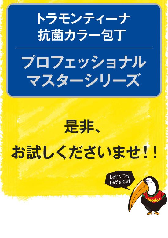 ハサップ対応用・抗菌カラー包丁
